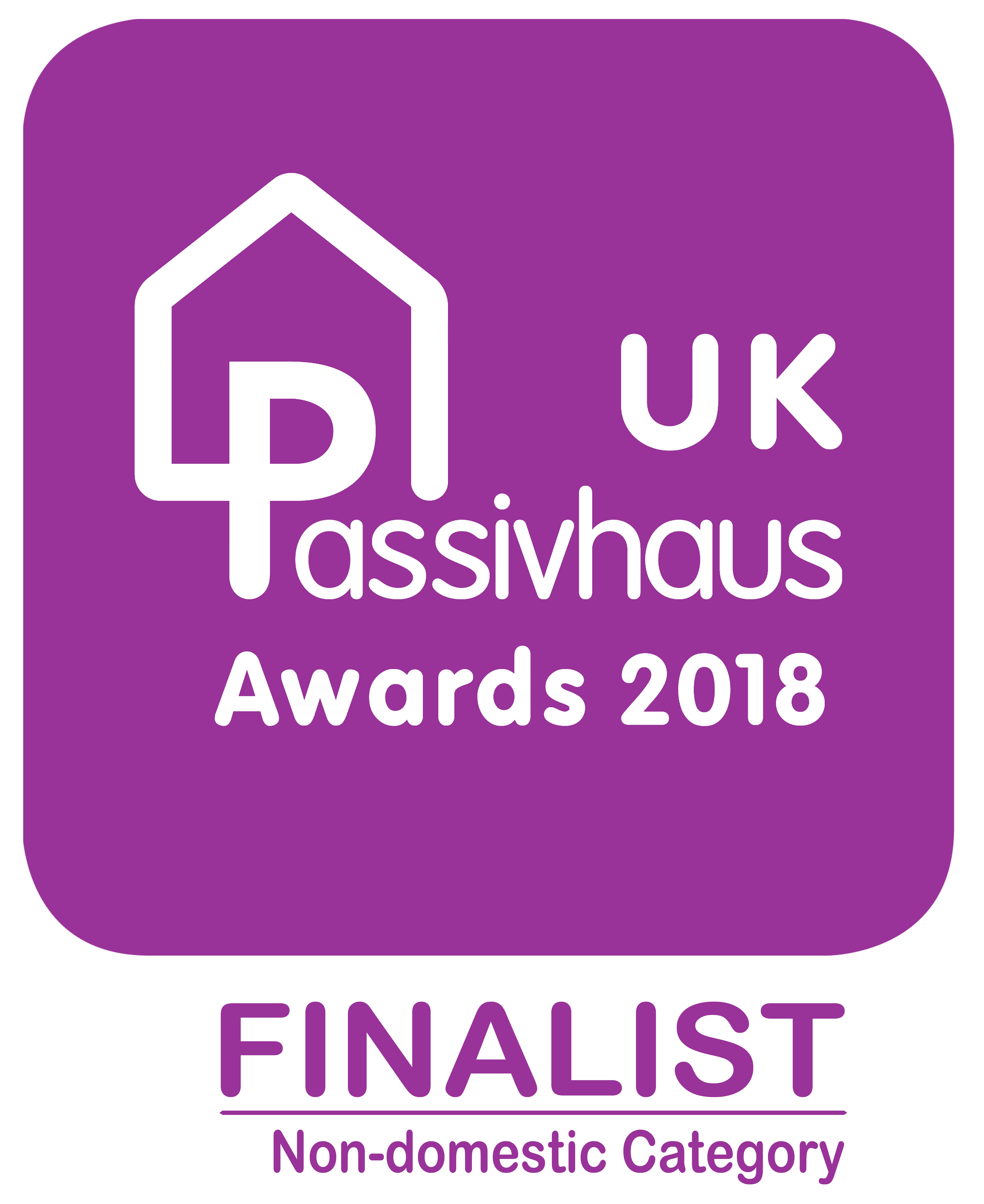 UK Passivhaus Awards 2018 finalist decal