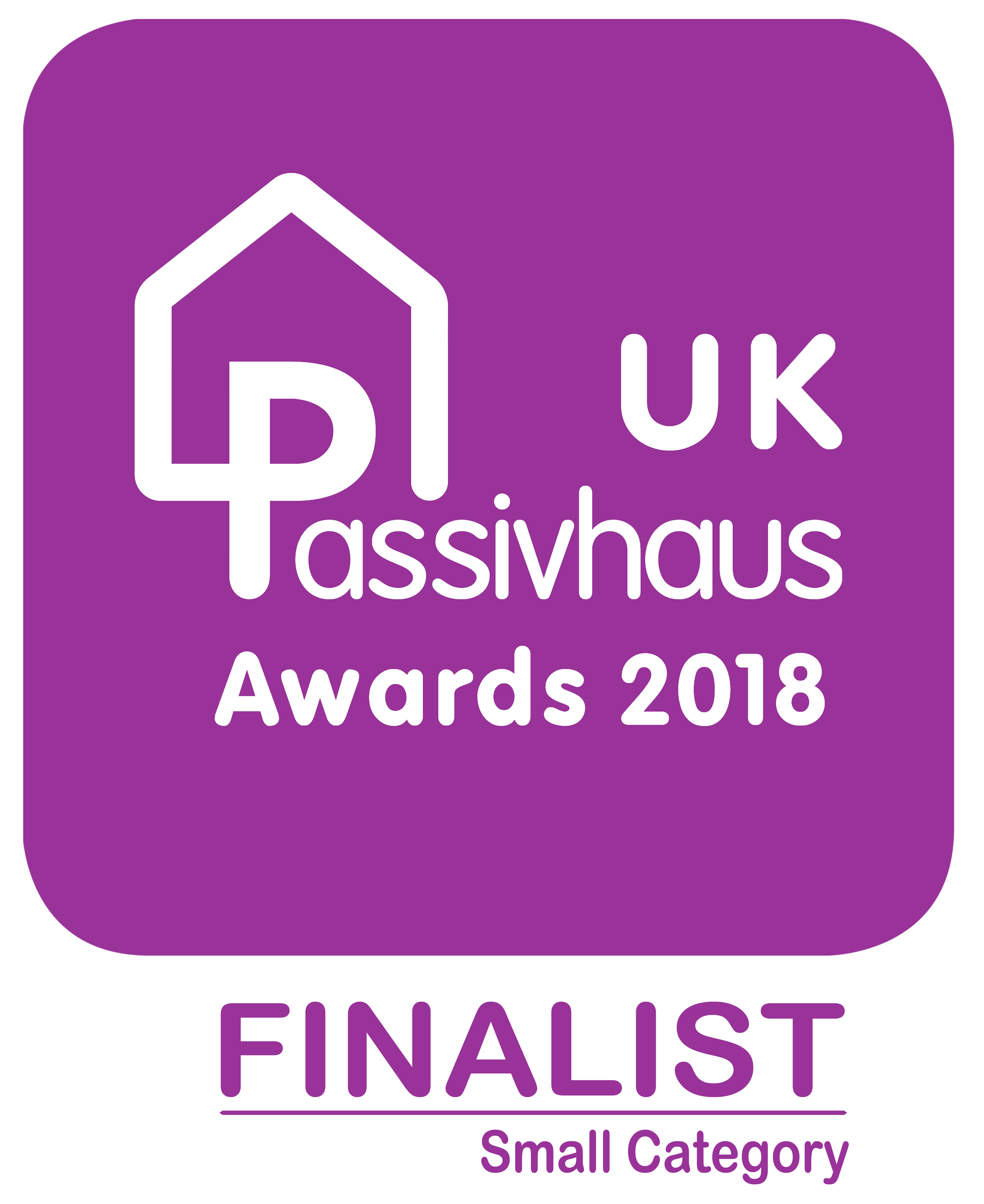 2018 UK Passivhaus Awards finalist small projects decal