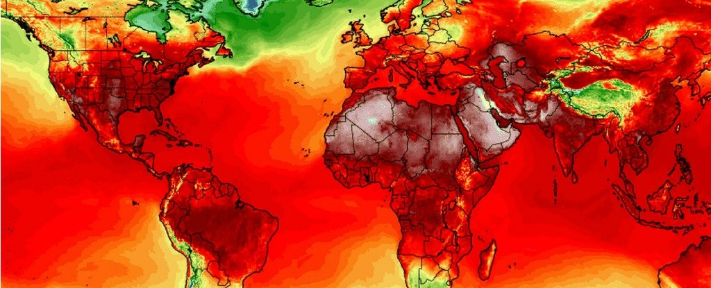 A simulation of maximum temperatures on 21 July. Photograph: Climate Reanalyzer/Climate Change Institute/University of Maine