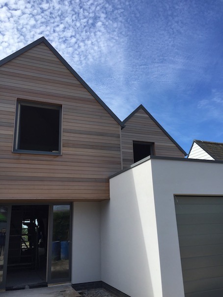 Verlands Road Passivhaus, North facing elevation