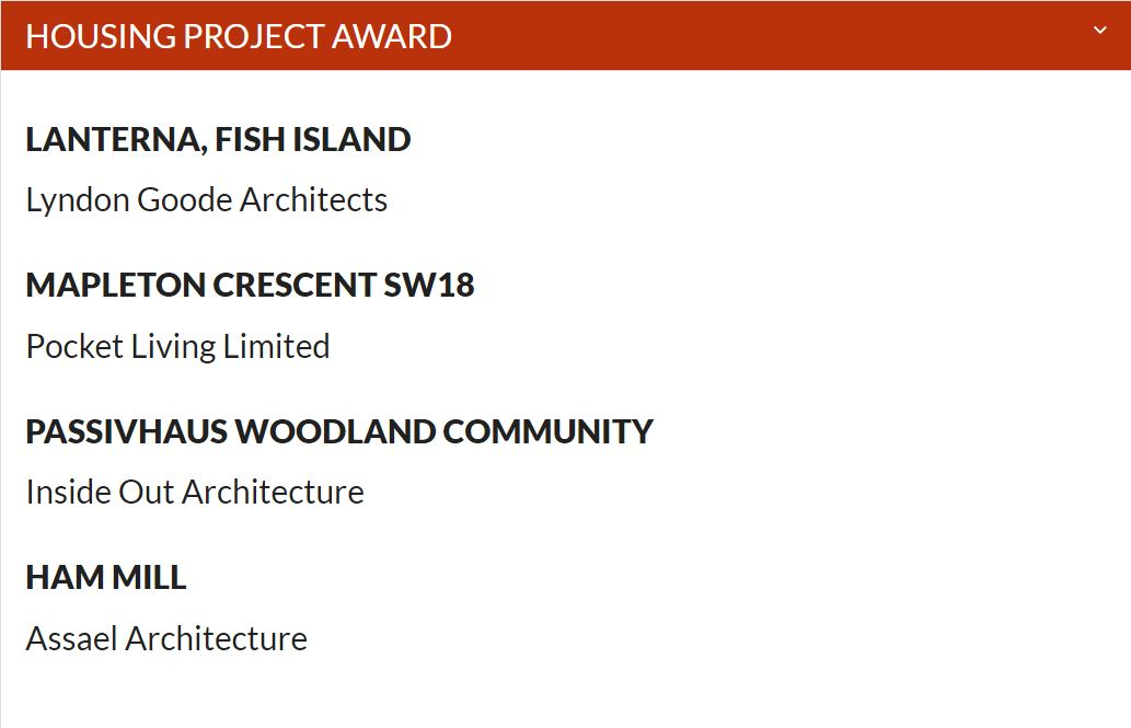 Passivhaus Woodland Community shortlist for housing project award