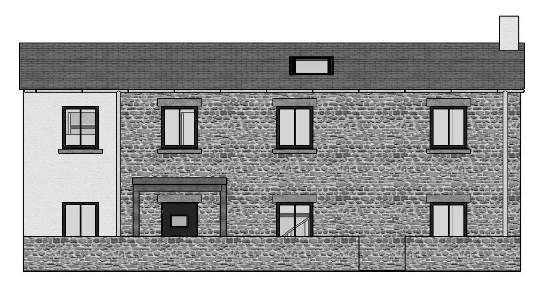 Treetops Passivhaus - elevation