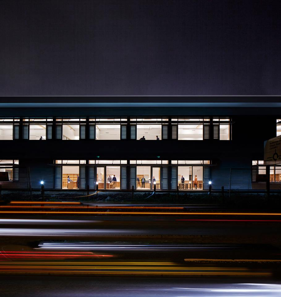 Hereford Archive Centre, exterior night shot